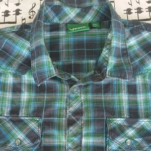 VANS Checkered Snap Button Shirt